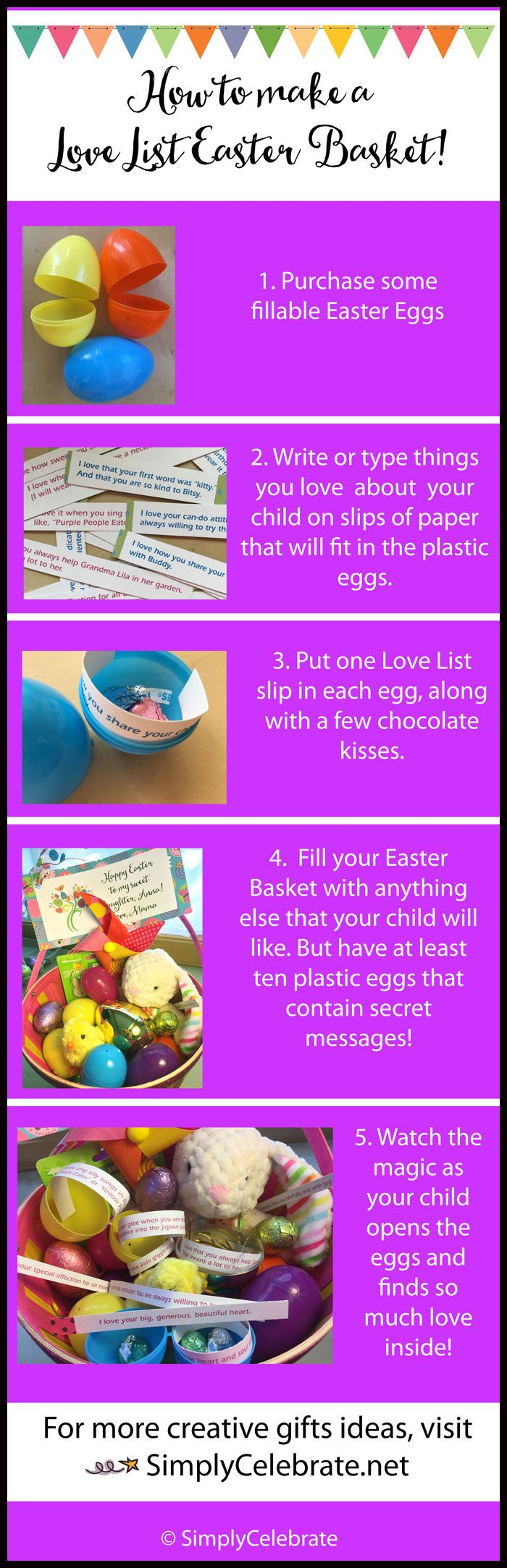 Make a Love List Easter Basket!   It's easy to go the extra mile to make your child's (or child-at-heart's!) Easter Basket extra special. Add a Love List!     All you have to do is bra...