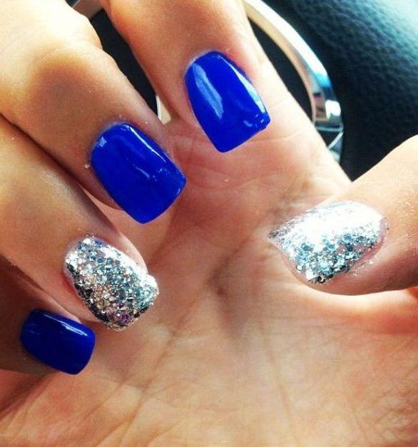 Super uñas/azules