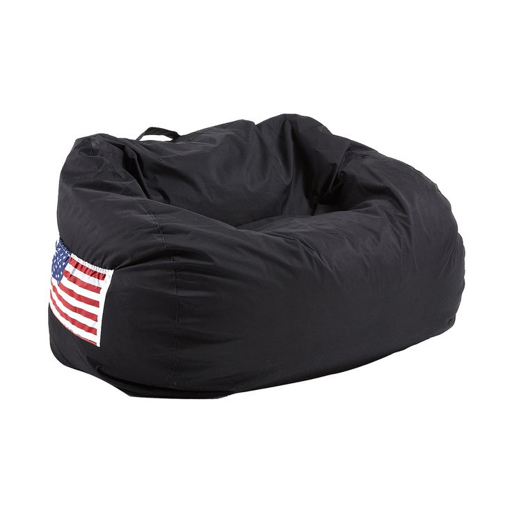 #Puff #sofá negro con bandera #americana.