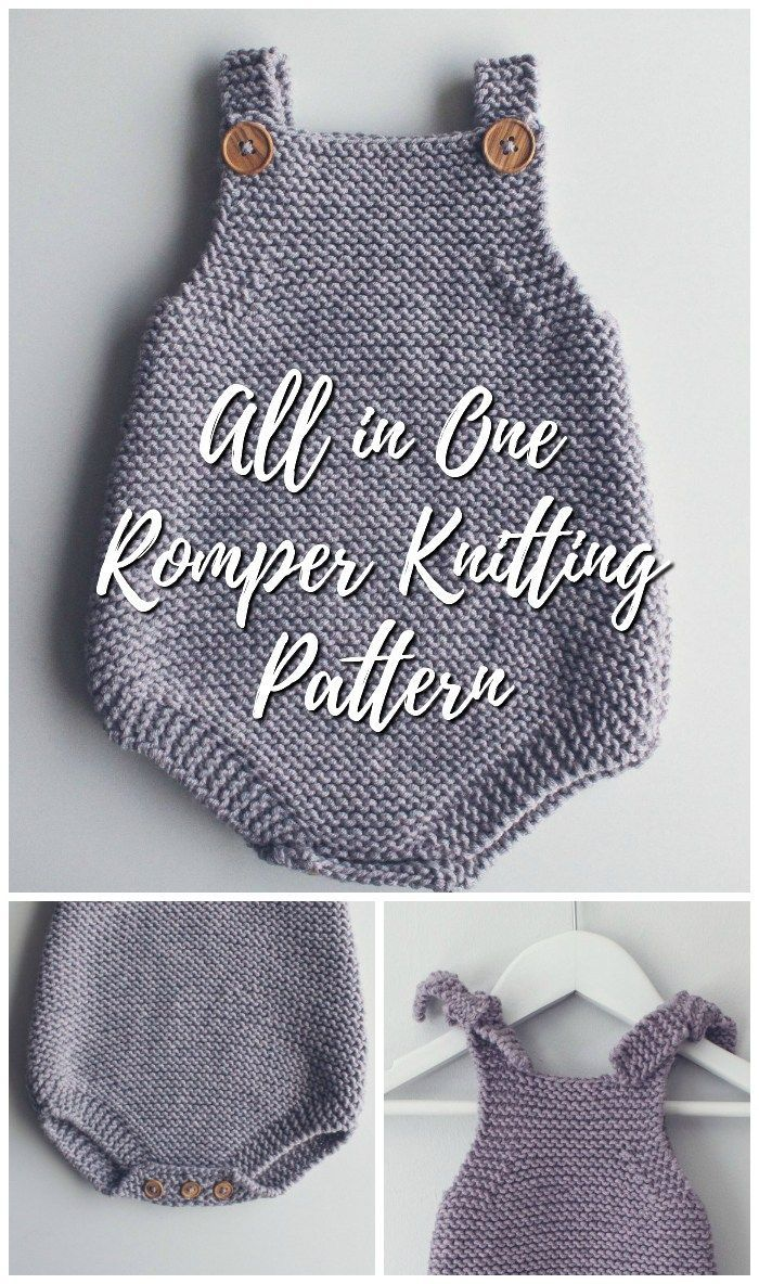 Lovely all in one romper knitting pattern. Great pattern for a beginner or a mor…