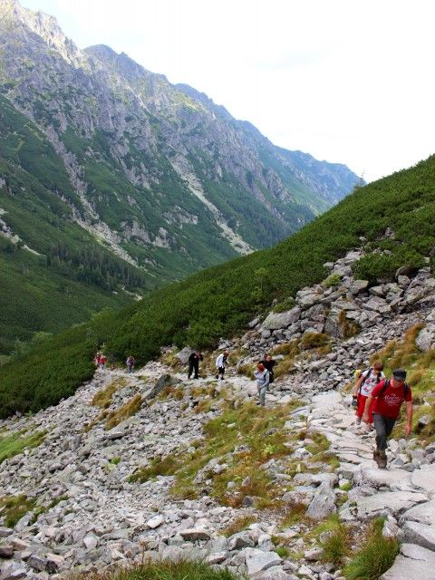 The trail to Gąsienica Valley (Dolina Gąsienicowa). Beautiful gem in Tatra Mountains full of mountain's lakes. Visit www.polish-trails.com and let's hike to Dolina Gąsienicowa together #polishtrails