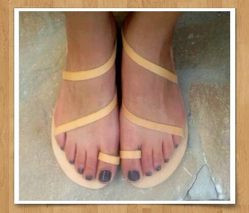 Greek Leather strappy summer sandals. Genuine by madammeshushu