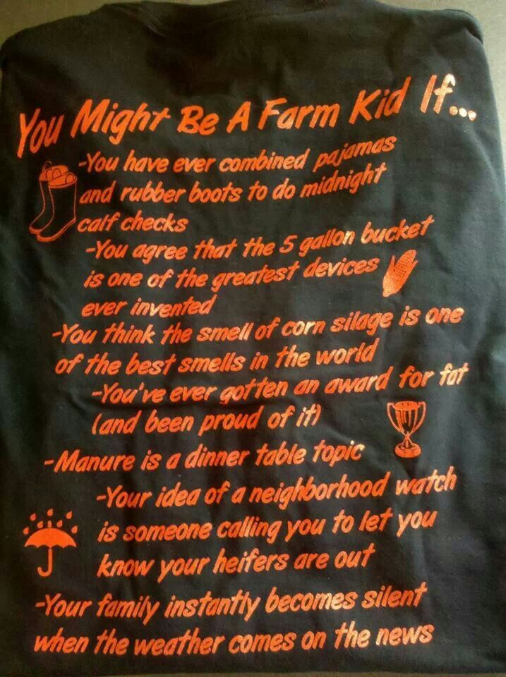 You Might Be A Farm Kid If...