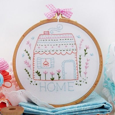 "DMC Embroidery Kit ""Home Sweet Home"" by Tamar Nahir-Yanai 