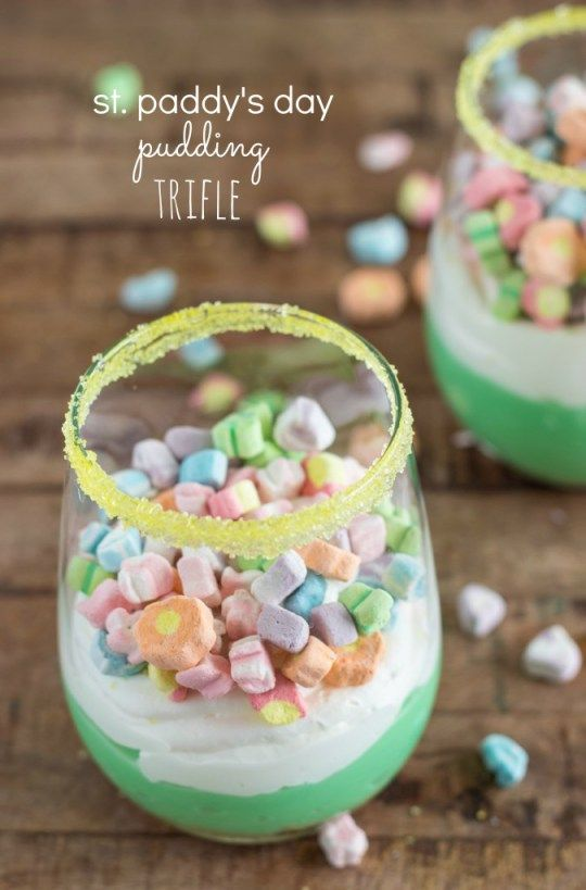 St. Paddy's Day Pudding Trifle