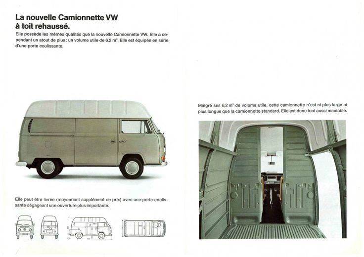 1968 voici le nouveau combi high roof vw combi board pinterest. Black Bedroom Furniture Sets. Home Design Ideas