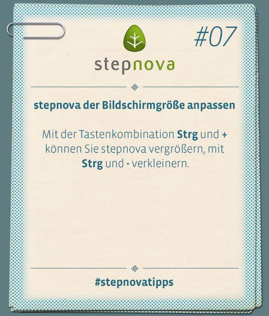stepnova der Bilfschirmgröße anpassen. So einfach geht das! #stepnovatipps #Software #Dokumentation #BeruflicheBildung #Maßnahme #stepnova