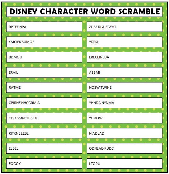 How many answers can you guess correctly on this Disney Word Scramble? These are all Disney characters, both new and classics. Good Luck!