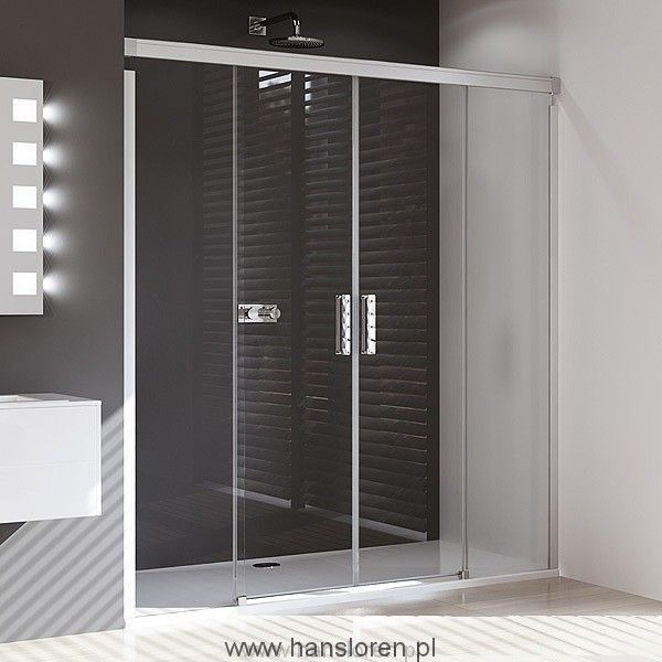 Design pure Huppe 4-kąt Drzwi suwane 2-częściowe ze stałymi segmentami 160 H:1900 - 8P0501087322  http://www.hansloren.pl/Kabiny-prysznicowe/Drzwi-szklane-do-wneki/HUPPE