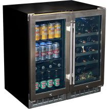 Beer And Wine Glass Door Bar Fridge Model YC100-Combo