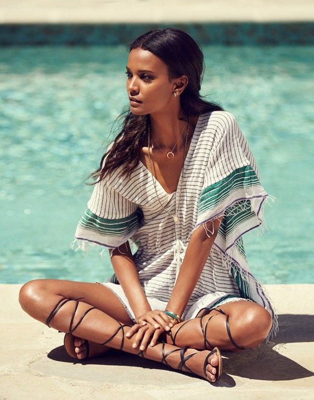 Liya Kebede for Grazia France August 2015 by Jason Kim