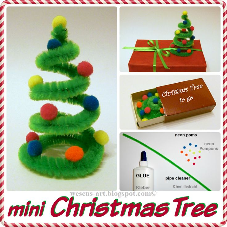 DIY Mini Weihnachtsbaum, tolle Idee. / DIY mini Christmas tree, great idea
