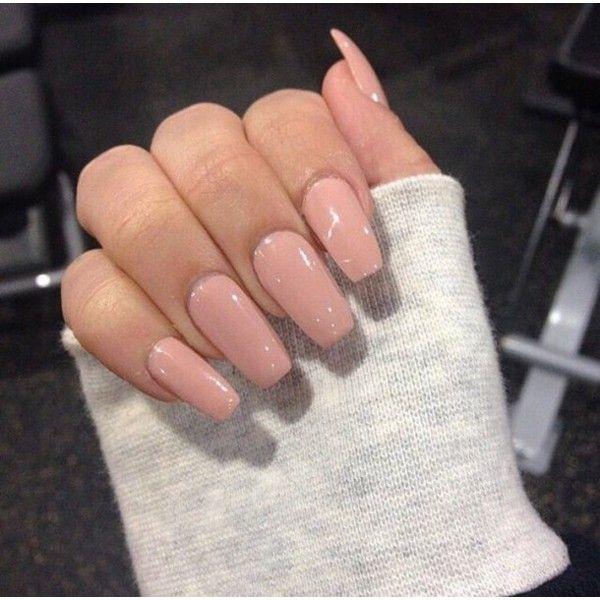 Nail polish: pink light acrylic nails ❤ liked on Polyvore featuring beauty products, nail care and nail polish