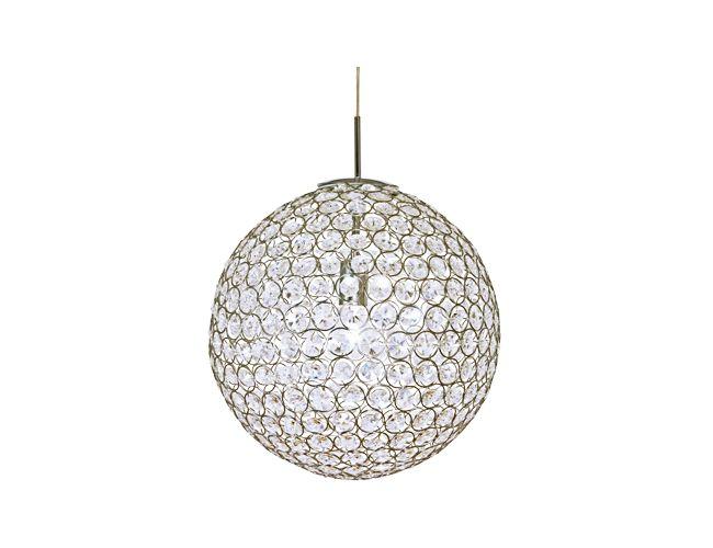 Aneta - BLING taklampa, krom med akrylprismor, Ø400