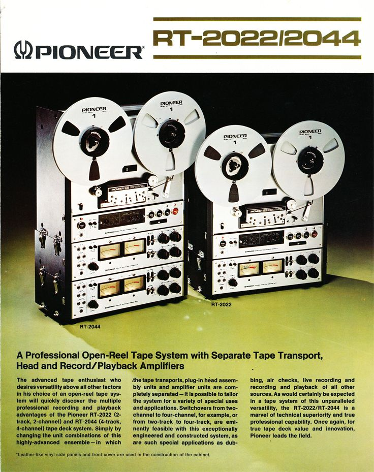 Ad for the superb Pioneer RT-2022 studio quality reel-to-reel.