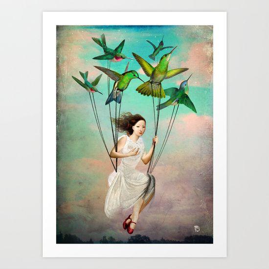 Take+me+somewhere+nice+Art+Print+by+Christian+Schloe+-+$24.00