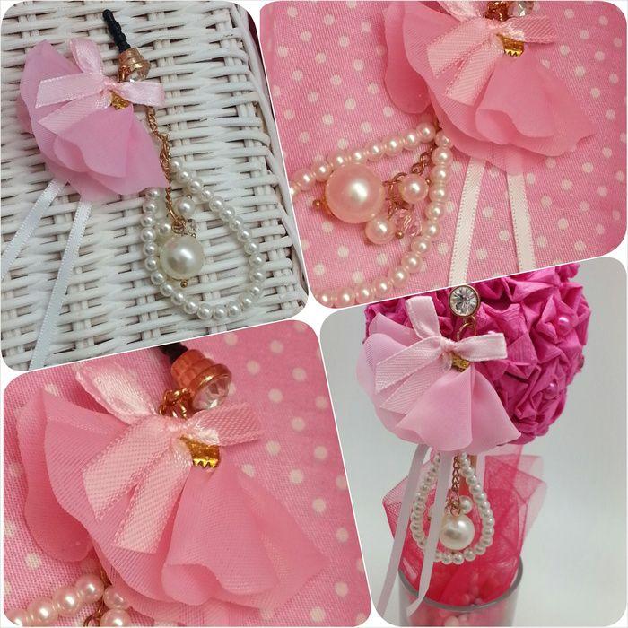 Koleksi Jewelry Pluggy (Stok Terbatas) :  Kode : AWS-200, Nama : Pink Flower & Pearl Pluggy, Price : IDR 50