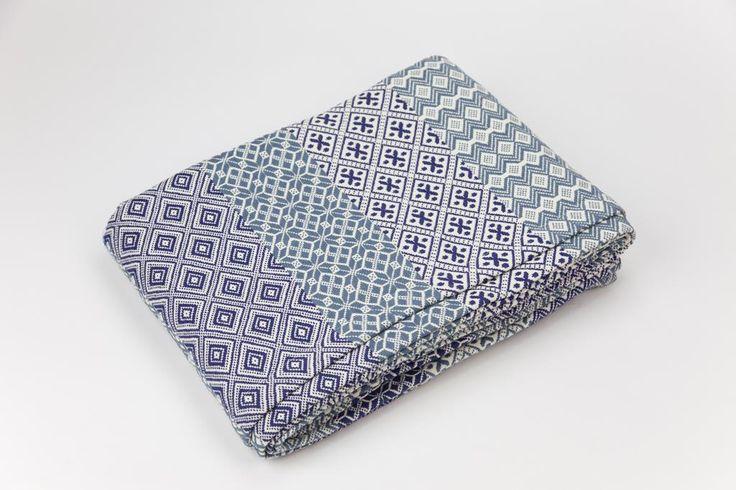 Couvrelit Azulejo Bleu 240x260 cm