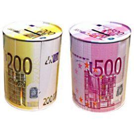 2 Tirelire Billet De 200 Et 500 Euros Verte 12.5 X 9.5 Cm Metal