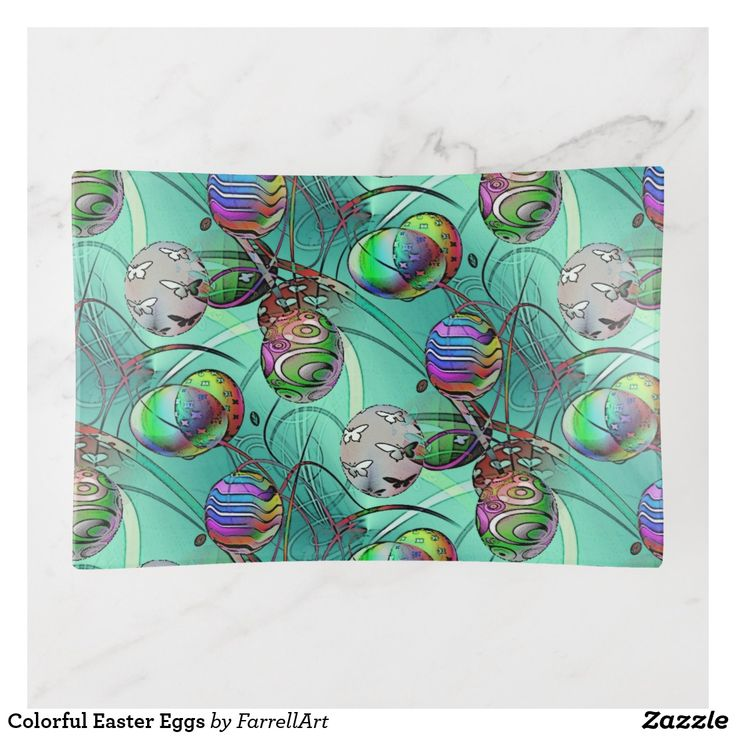 Colorful Easter Eggs Trinket Trays