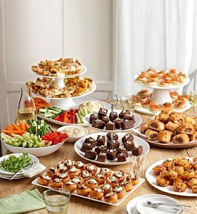 finger party food and presentation ideas.