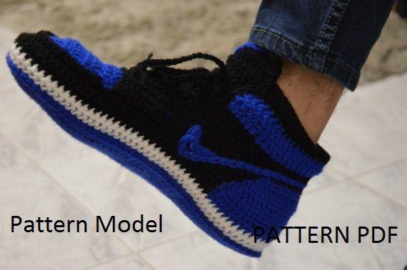 a854951e8f3f73 CROCHET Pattern Nike Air Jordan 1 Crochet adult MEN US 7