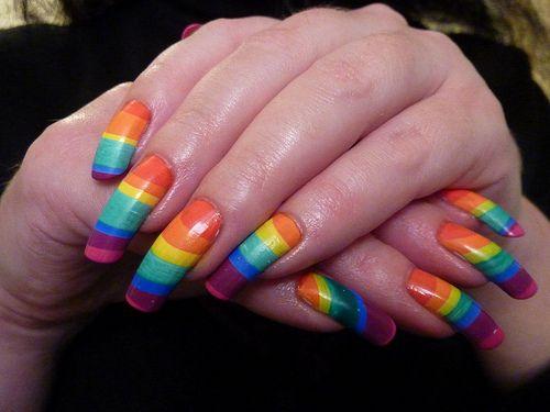 124 best rainbow nails images on pinterest nail polish nail rainbow long nails solutioingenieria Choice Image
