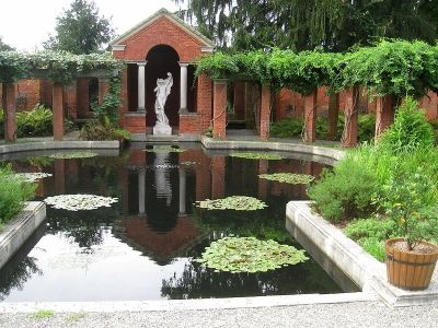 """Vanderbilt Mansion in Hyde Park, New York: """"The grounds of the Vanderbilt Mansion and Estate include over 200 acres and numerous formal gardens including a rose garden and Italian Gardens"""""""