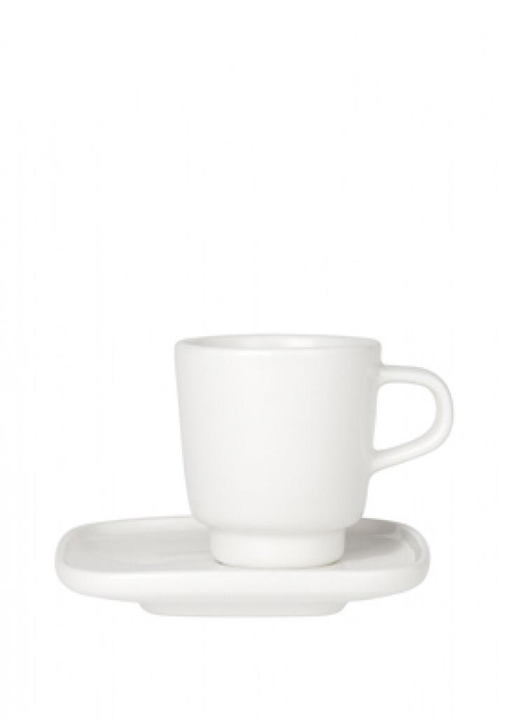 Oiva -espressokuppi ja -lautanen | Oiva-kupit | Marimekko