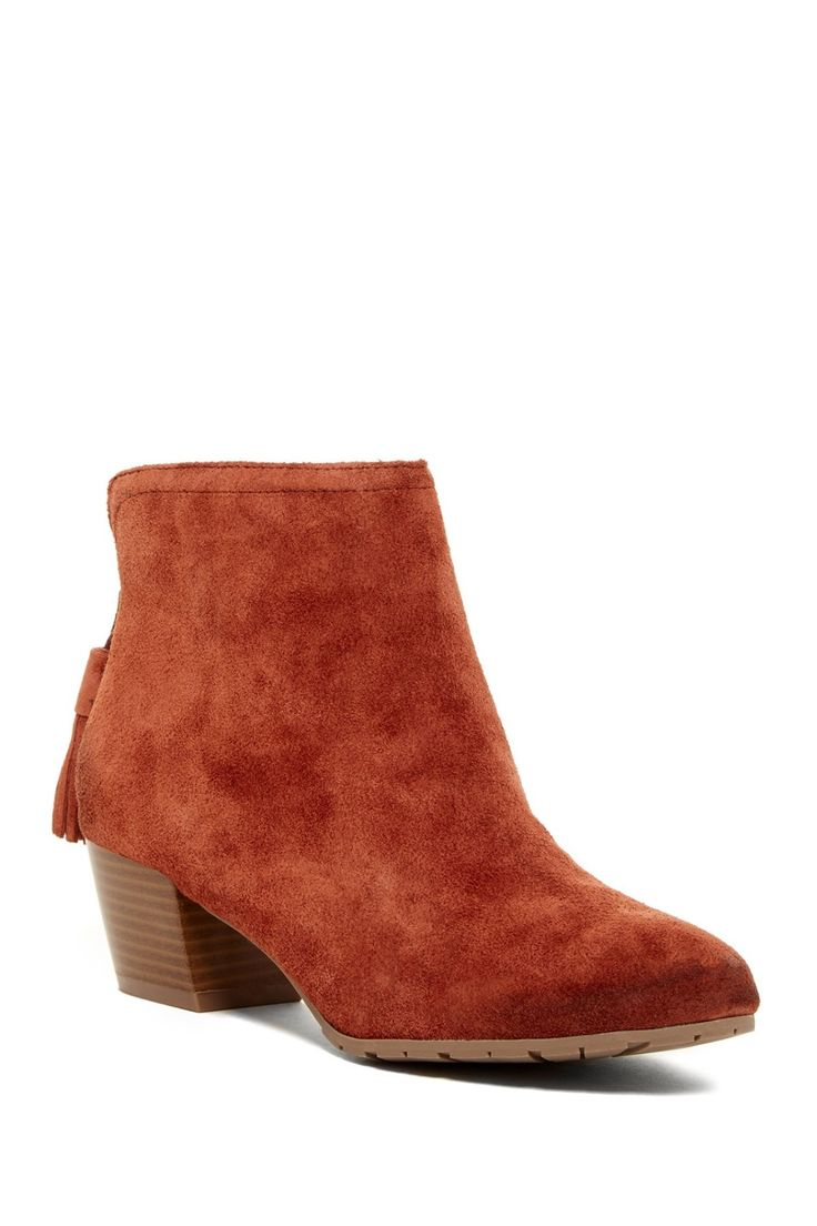 Rust colored Kenneth Cole Reaction Pil-Age Booties