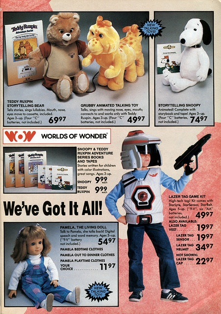 "Teddy Ruxpin,1986-xx-xx Toys ""R"" Us Toy Book P005 by Wishbook, via Flickr"