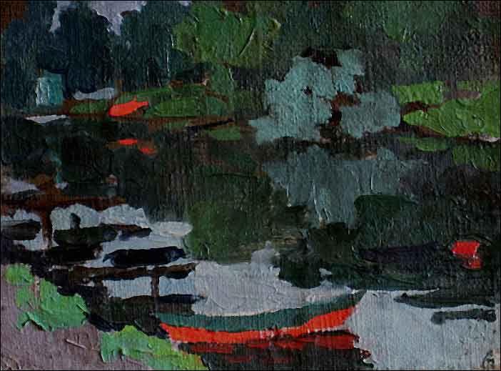 Taisia Afonina - Barco vermelho, 1959