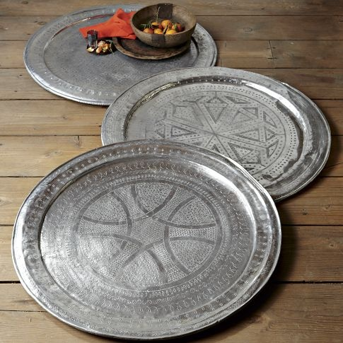 Obsessed with Moroccan anything right now, and these metal trays are just adding to the craze!