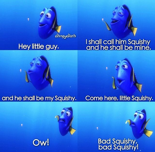 Finding Nemo...Dory has the best expressions.