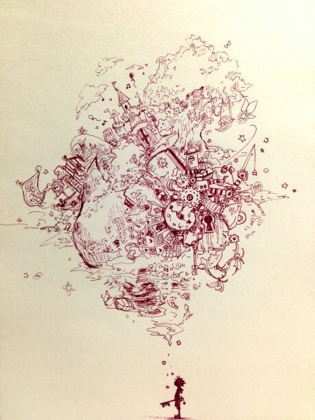 Kingdom Hearts-- AMAZING drawing