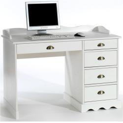 Schreibtisch Colette Mit Aufsatz In Weiss Idimexidimex Office Decorations Have A High Impact On Employee Pro In 2020 Desk Home Office Furniture Desk Office Interiors