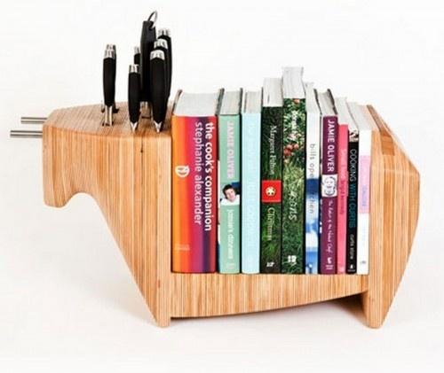 Multifunctional Knife Saver Bookshelf Designs Combinations: Kitchens, Idea, Cookbook, Toro Legno, Kitchen Bull, Knife Block, Knife Holder, Knives