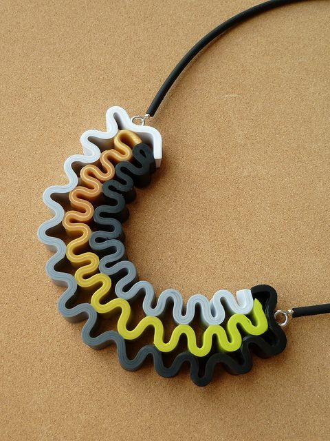 Polymer Clay Necklace by Carina's Photos and Polymer Clay, via Flickr