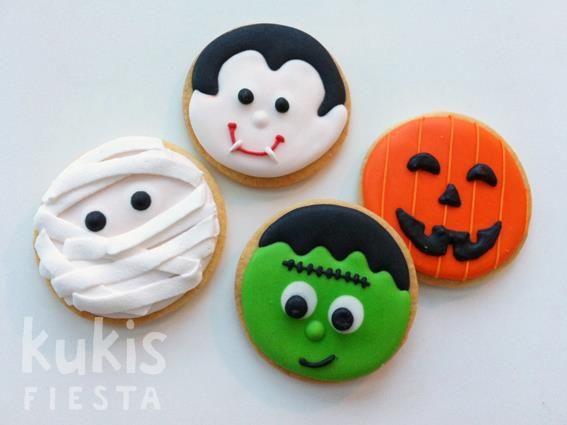 Mummy, Dracula, Frankenstein & Jack 'o Lantern Cookies