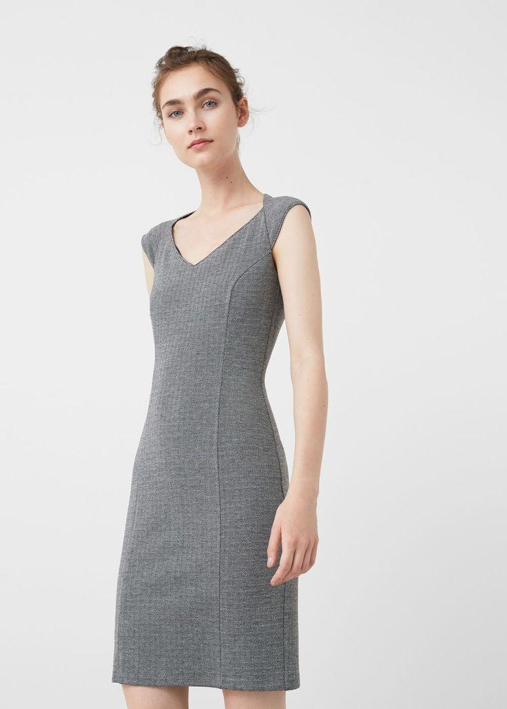 Vestido diseño espiga | MNG