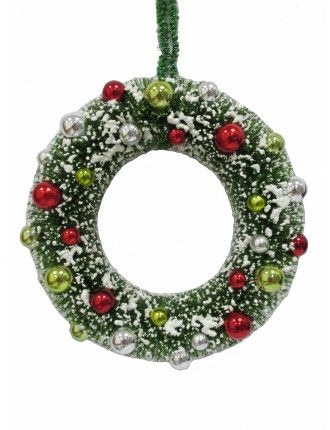 Wreath Sisal Snow Green