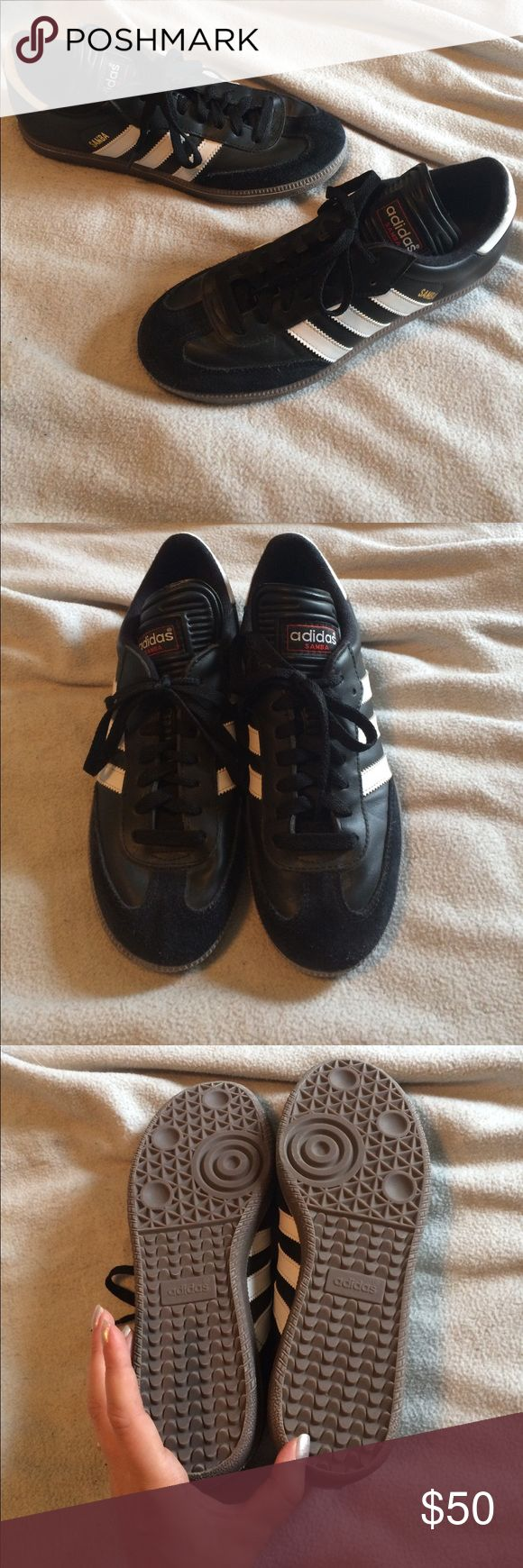 NWOB adidas Samba Shoes women's 8.5/men's 7.5 Adidas Samba shoes. New without box! Black and white classic shoes! Easily unisex. Men's size 7.5 and women's size 8.5! adidas Shoes Athletic Shoes