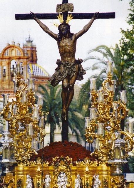 """El Cristo de la Expiración, conocido popularmente como """"El Cachorro"""", es una escultura de finales de 1682 de Ruiz Gijón y está considerada como la última gran imagen del barroco sevillano."""