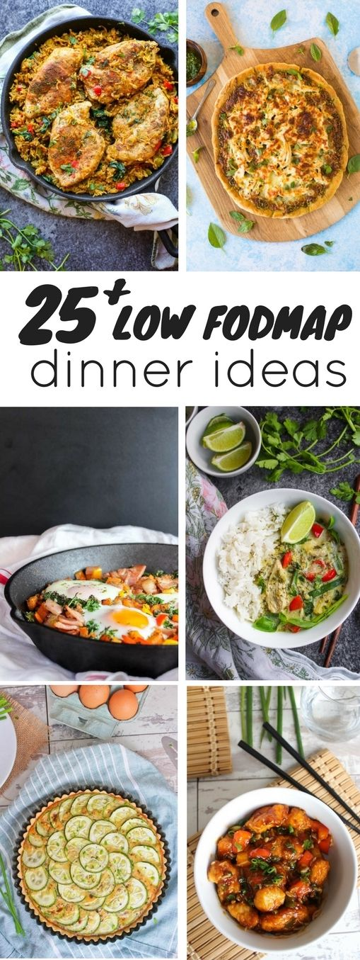 25 Low FODMAP Diet dinner recipes - nearly a month's worth of dinner ideas to help you figure out what to make for dinner.