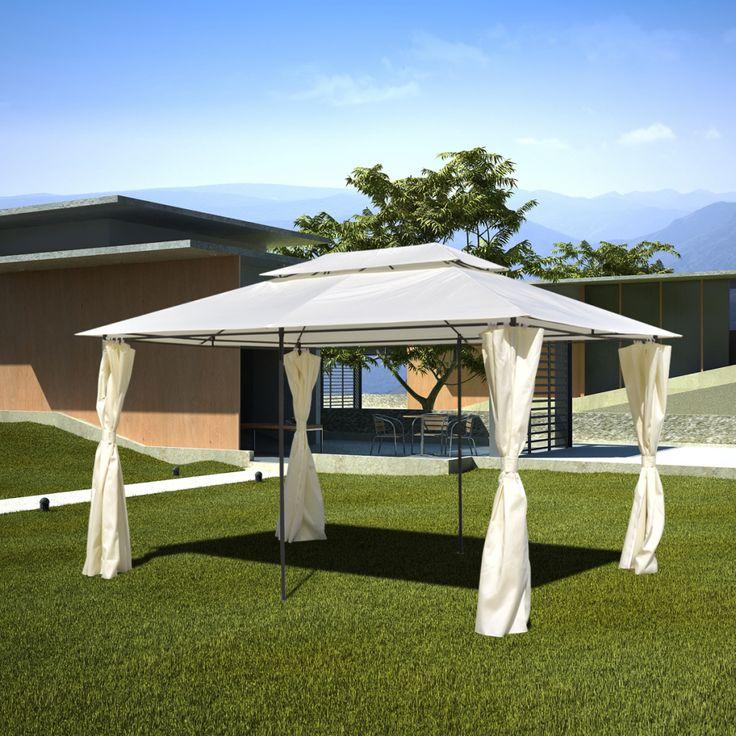 white Garden Patio Gazebo Steel 10' x 13' - LovDock.comhttps://www.lovdock.com/tents-2450/p-40788us.html?aid=C6624