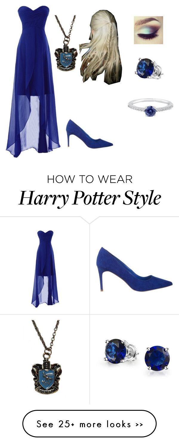 """ravenclaw prom dress"" by bluewolf13 on Polyvore featuring Miss KG, BERRICLE and Bling Jewelry"