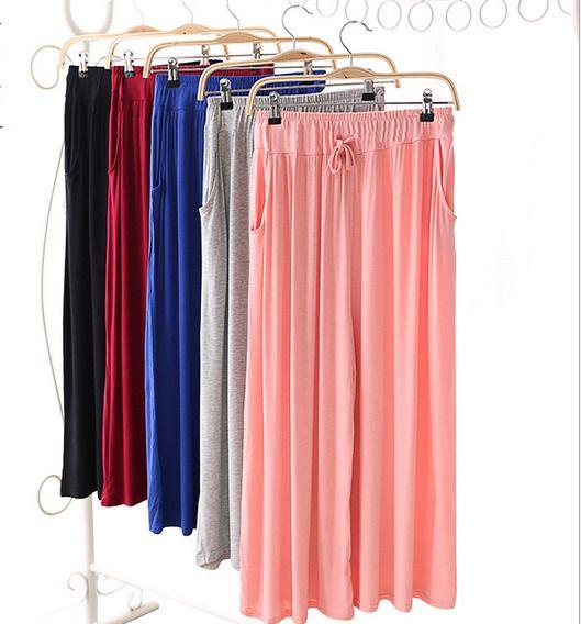 Wide-Legged Pants Nine Points Divided Skirt Dancing Culottes Loose Big Yards