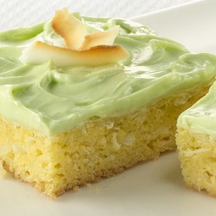 Tropical Coconut Bars: Life's a beach with luscious Lemon Supreme cake mix and flakey coconut. Cue the marimbas!