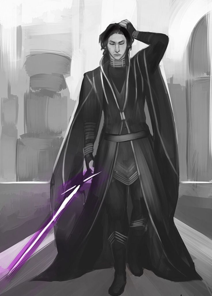 Perfect! I bet he would have a purple lightsaber, they're rare and unusual, it would be perfect for Ben. Ohmigosh, I just noticed his outfit looks just like one Padme wore in Episode II and frequently in the Clone Wars. >>>Ben...