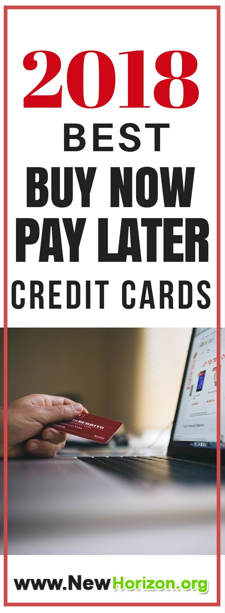 """Check our list of """"Buy Now, Pay Later"""" Credit Cards this 2018. Guaranteed approval with huge credit limit."""